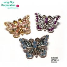 (BR0266) glitter and stone decorated butterfly brooch for women apparel