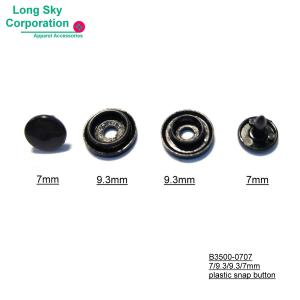 (#B3500-0707) 7mm cap colored plastic snap button