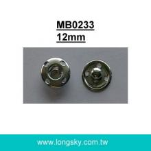 (#MB0233/12mm) metal sewing on press snap button for skirt