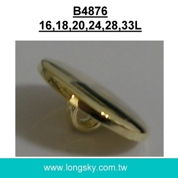 (#B4876) round fancy flat top gold plated shank buttons maker