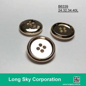 (B6339/24L,28L,34L,40L) classical 4 hole round sew on suit button