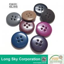(#P28CR1) 40L colored Fancy large decorative plastic button for clothes