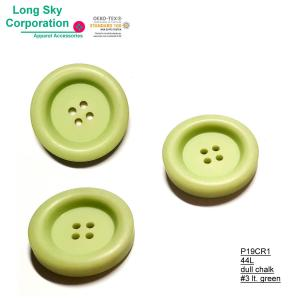 (#P19CR1) 44L Designer winter clothing light green large plastic resin button