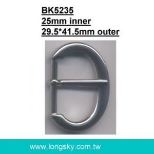 U-shaped belt buckle with prong (#BK5235/25mm inner)