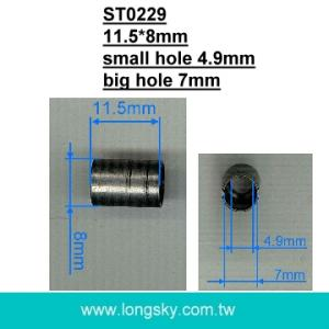 (#ST0229) factory barrel metal cord end for 5mm cord