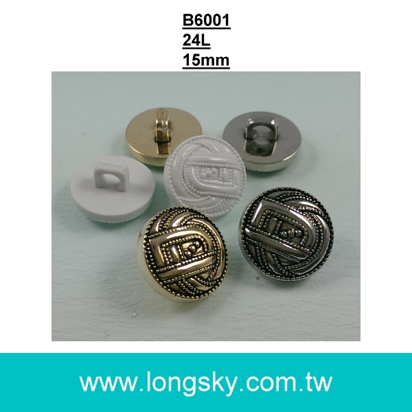 (#B6001) 15mm antique silver designer suit buttons from Taiwan