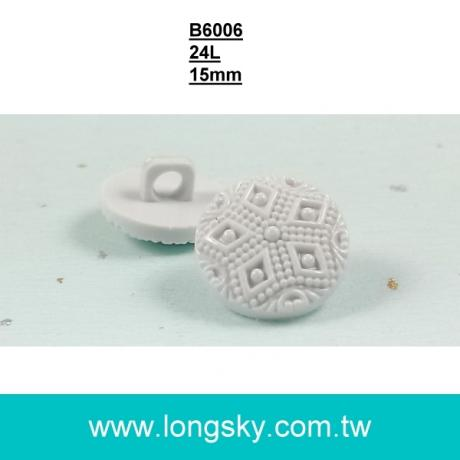 (#B6006/24L) 15mm high quality plastic shank button for lady suits