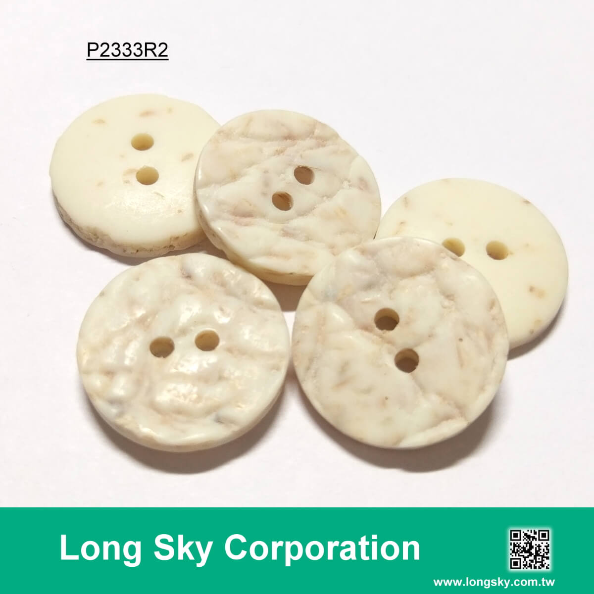 (#P2333R2) Polyester resin plastic Craft Button