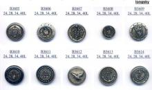 (B3605~B3614) Royal pattern enameled ABS Buttons
