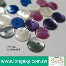 (#P1010F2) 18L Colored imitation shell finish kids sweater buttons