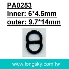 (PA0253/6mm) metal buckle accessories for dress strap