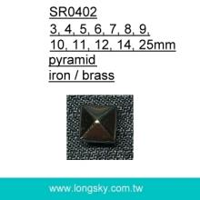 metal pyramid studs for jeans (#SR0402)