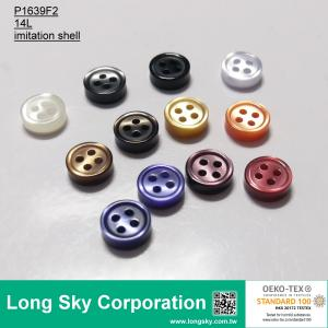 (P1639F2) plastic 14L coloured imitation shell shirt button