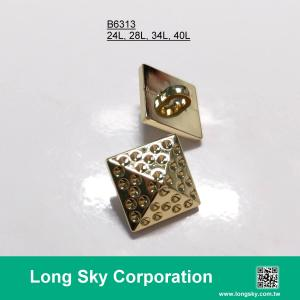 (#B6313/24,28,34,40L) designer style gold color pyramid shape button for women garment