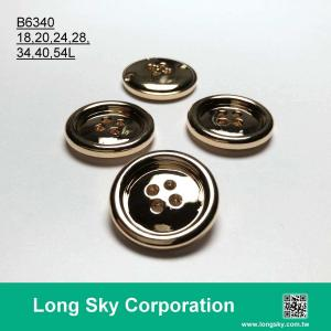 (B6340/18L,20L,24L,28L,34L,40L,54L) classical 4 hole round suit button and shirt button