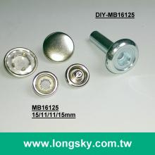 (DIY-MB16125) DIY Tooling for 15mm cap metal prong snap buttons