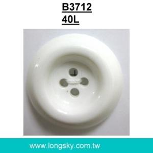(#B3712/40L) classic 4 hole round large flat back nylon button