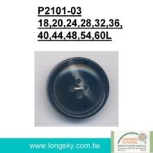 (#P2101-03) 4 hole rod imitation horn coat button