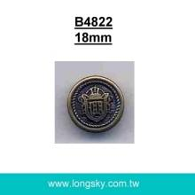 (#B4822) 18mm 28L shank button for garment ABS plastic antique button