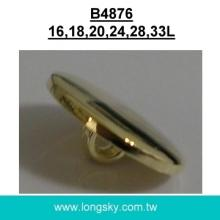 (#B4876) 16L, 18L round fancy flat top gold plated shank back small buttons maker