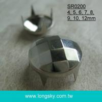 (#SR0200) Fashion faced round DIY shoe decoration and accessory prong stud