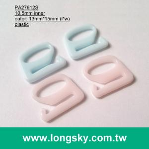 (#PA27912S/10.5mm inner) plastic 9 shape buckle hook for bra strap
