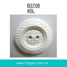 (#B3706/40L) 2 hole stone texture nylon sewing button for stylish suit