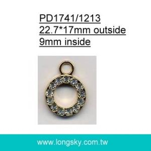 Round crystal rhinestones pendant for clothing (#PD1741)