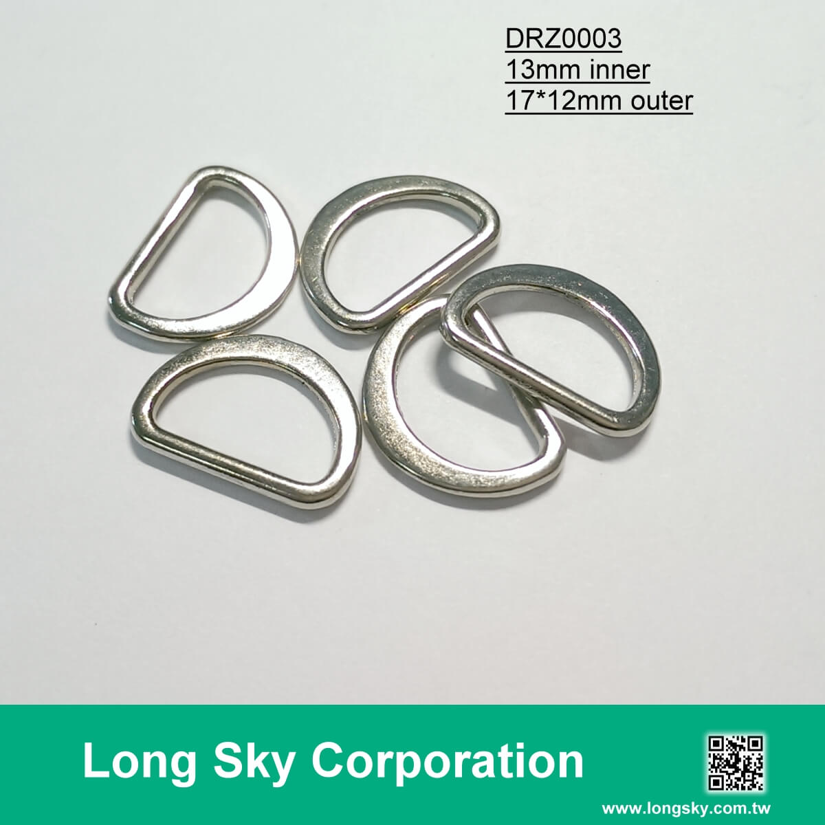 (#DRZ0003/13mm inner) flat D-ring buckle for small strap belt