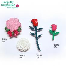 (#B76-4) Valentine's Day beauty rose flower craft buttons