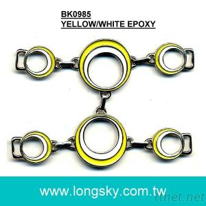 Metal enameled shoe buckle for sandals (#BK0985)