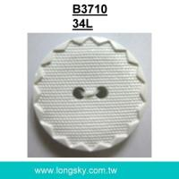 (#B3710/34L) 2 hole plastic nylon dyeable craft button