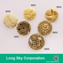 antique gold plated shank back suit buttons, B66-1_2
