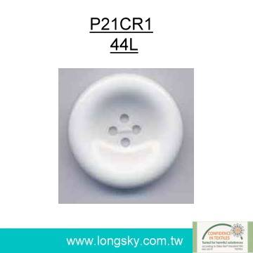 (#P21CR1) Classic resin white button for garments