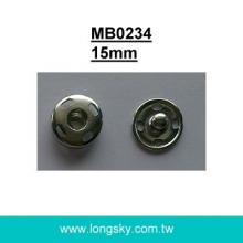 (#MB0234/15mm) metal sewing on press snap button for coat