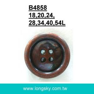 (#B4858) 18L 4 hole antique copper plastic small button factory