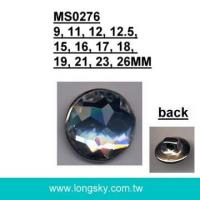 (#MS0276) High quality acrylic rhinestone metal base shank button