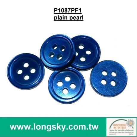 (#P1087PF1-4HS) fancy customized round resin button factory