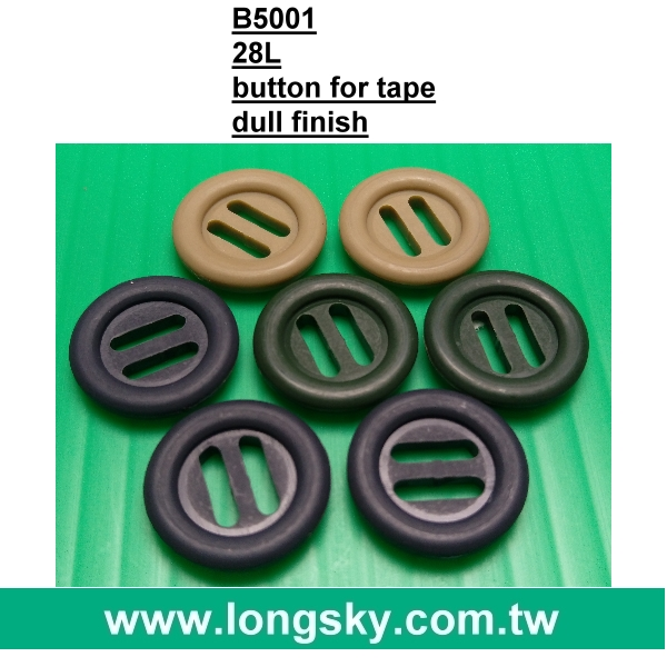 (#B6114) wide hole 19mm high temperature fastness plastic military army button