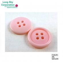 (#P16CR1) light pink 28L plastic polyester resin children coat button