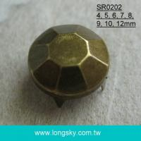 Rhinestone look decorative stud with prong for leather and clothing