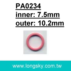 (PA0234/7.5mm) bra hook, dress strap ring accessories