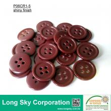 (#P06CR1-5) 15mm wine color 4-hole polyester resin children craft button