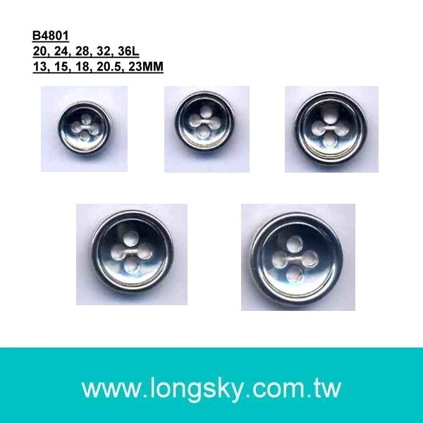 (#B4801) 4 hole plastic abs button for fashion shirts