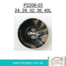 Popular Rod Polyester Resin Button for cloak (P2206-03)