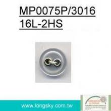 (#MP0075P/3016-16L) 16L eyelets combined polyester resin button for spring wear