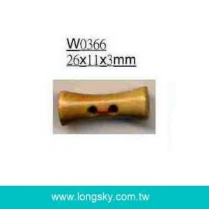 (#W0366) Drum type wooden toggle button for suit
