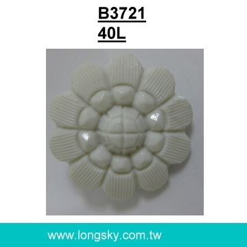 (#B3721/40L) Fancy shank flower shape buttons for lady coats