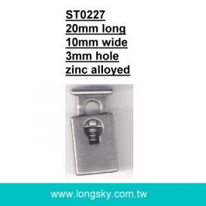 (#ST0227) 3mm cord one hole metal cord lock for garments