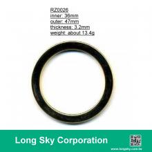 (#RZ0026/36mm) zinc metal ring for 1.4 inch wide fabric tape